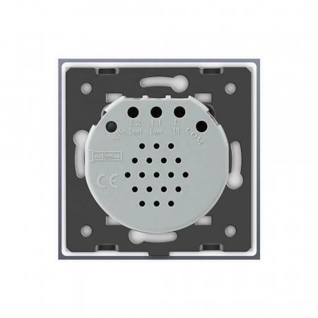 Întrerupător simplu Livolo, reset/buton revenire, Argintiu1