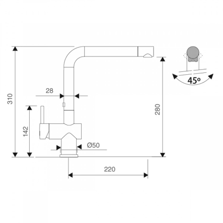 Bateria de chiuveta CookingAid RODI LINE MN 805 [5]