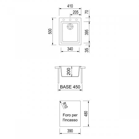 Chiuveta bucatarie granit CookingAid Cube ON4110 Alba / Polar White + accesorii montaj4
