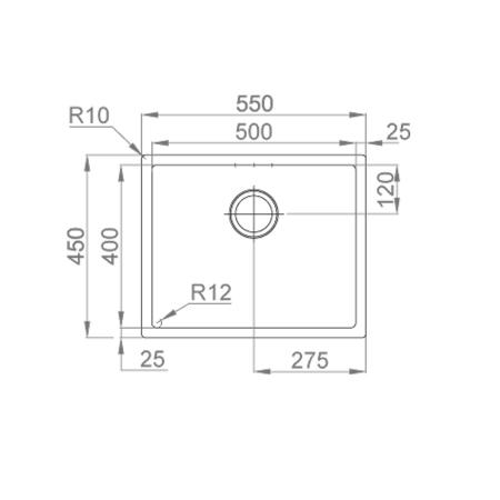 Chiuveta bucatarie inox CookingAid BOX LUX 50 COPPER cu strat PVD ceramic culoare cupru + accesorii montaj [11]