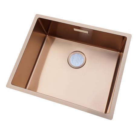 Chiuveta bucatarie inox CookingAid BOX LUX 50 COPPER cu strat PVD ceramic culoare cupru + accesorii montaj [4]