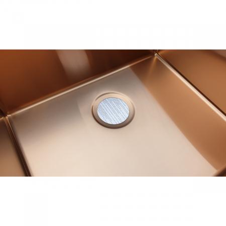 Chiuveta bucatarie inox CookingAid BOX LUX 50 COPPER cu strat PVD ceramic culoare cupru + accesorii montaj [5]