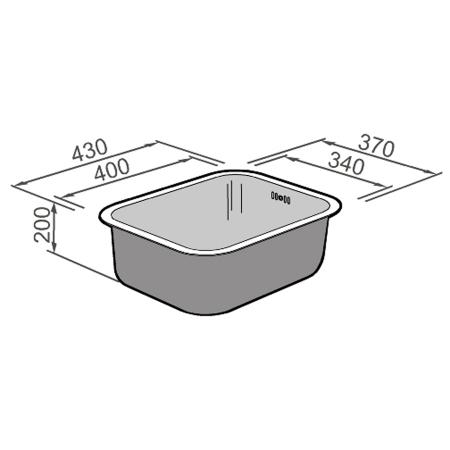 Chiuveta bucatarie inox CookingAid BRASILIA + accesorii montaj [6]