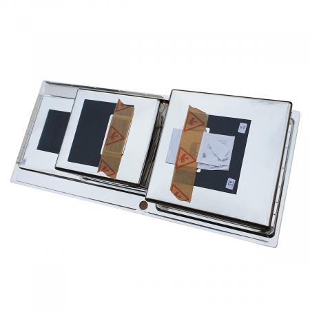 Chiuveta bucatarie inox CookingAid EVO 116 dubla cu 2 cuve + picurator si ventil automat reversibila stanga/dreapta + accesorii montaj7