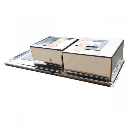 Chiuveta bucatarie inox CookingAid EVO 116 dubla cu 2 cuve + picurator si ventil automat reversibila stanga/dreapta + accesorii montaj8