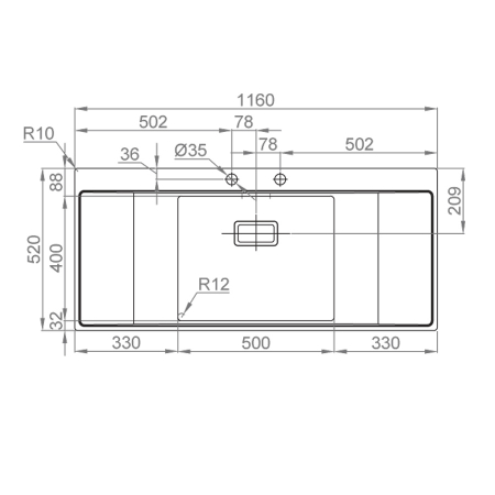 Chiuveta bucatarie inox CookingAid XERON B50 reversibila cu ventil scurgere dreptunghiular automat si accesorii montaj6
