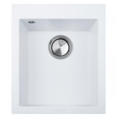 Chiuveta bucatarie granit CookingAid Cube ON4110 Alba / Polar White + accesorii montaj0