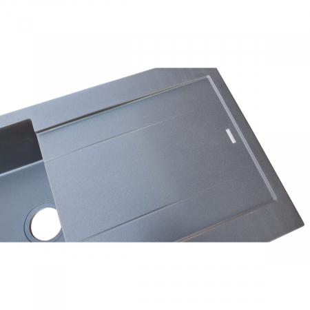 Chiuveta bucatarie granit CookingAid Amanda AM9910 Neagra Antracit reversibila [9]