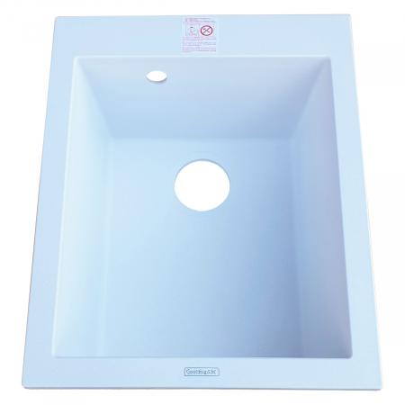 Chiuveta bucatarie granit CookingAid Cube ON4110 Alba / Polar White + accesorii montaj2