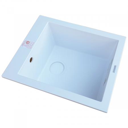 Chiuveta bucatarie granit CookingAid Cube ON4110 Alba / Polar White + accesorii montaj3