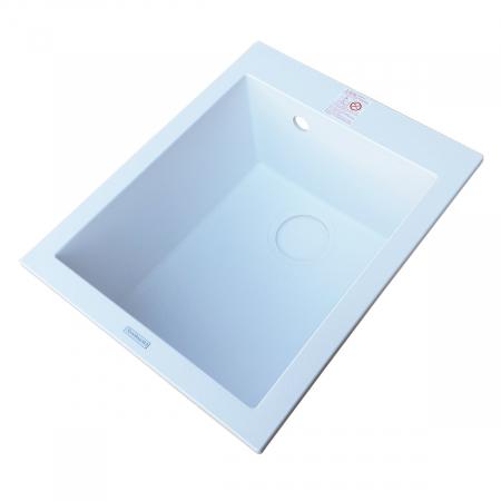 Chiuveta bucatarie granit CookingAid Cube ON4110 Alba / Polar White + accesorii montaj5