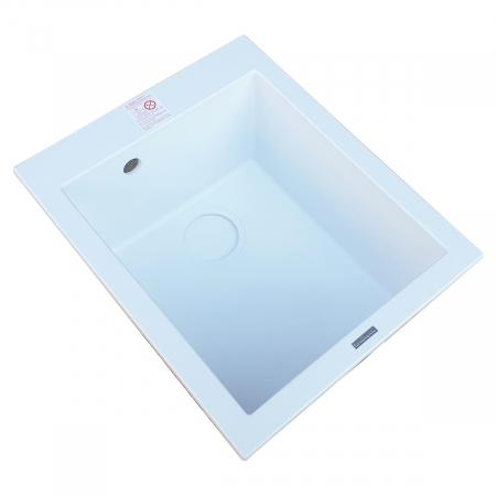 Chiuveta bucatarie granit CookingAid Cube ON4110 Alba / Polar White + accesorii montaj6