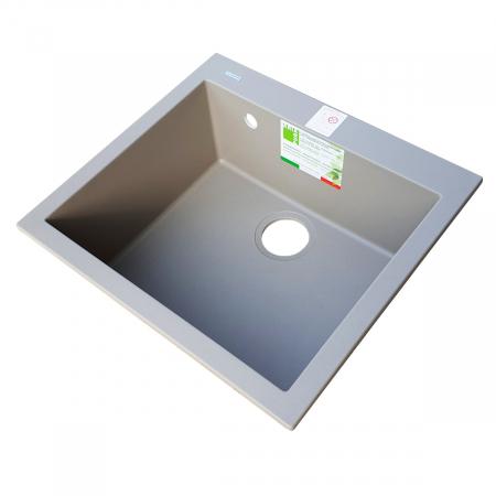 Chiuveta bucatarie granit CookingAid Cube ON5610 Trufa Maro / Truffle + accesorii montaj3