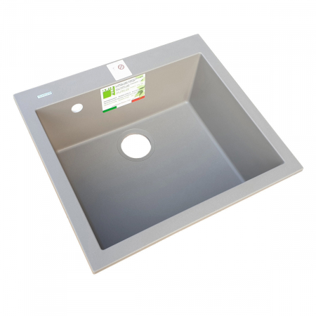 Chiuveta bucatarie granit CookingAid Cube ON5610 Trufa Maro / Truffle + accesorii montaj2