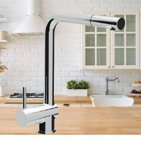 Apell -Baterie de bucătărie cu duș extensibil, crom AP7730DCCR, crom