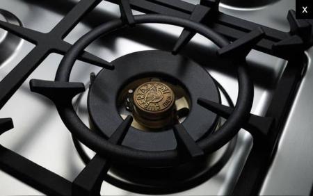 Aragaz Bertazzoni 90 cm 6 arzatoare gaz, cuptor electric dublu Seria Master [3]