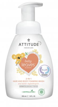 Spuma BIO Attitude pentru par si corp, Nectar de pere 295 ml1