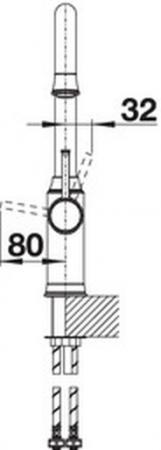 Baterie bucatarie Blanco Livia-S cu dus extensibil [3]