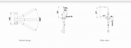 Baterie chiuvetă bucatarie BLANCO Evol-S Volume otel ultraresist [8]
