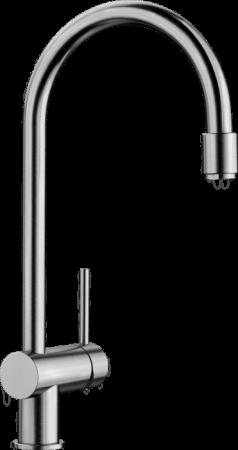 Baterie chiuveta Blanco FILO-S aspect inox lucios cu dus extensibil [2]