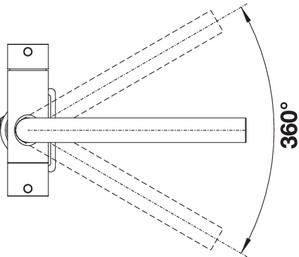 Baterie chiuveta BLANCO FONTAS S II Filter din inox, cu circuit apa filtrata si cap extractibil [8]