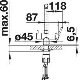 Baterie chiuveta BLANCO FONTAS S II din inox, cu circuit apa filtrata si cap extractibil6