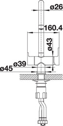 Baterie chiuveta BLANCO TRIMA din inox, cu circuit pentru apa filtrata [6]
