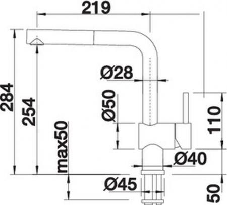 Baterie chiuveta inox bucatarie Blanco LINUS-S Vario cu dus extensibil [4]