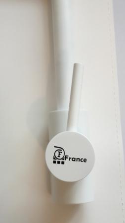 Baterie CookingAid FRANCE WHITE cu cap flexibil detasabil + buton interschimbabil jet/dus si finisaj alb mat antiamprenta [6]