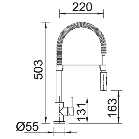 Baterie CookingAid RODI LINE MN 1021 cu cap flexibil detasabil + buton interschimbabil jet/dus si finisaj [3]