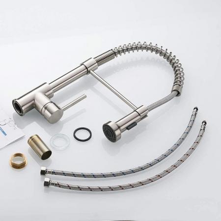 Baterie CookingAid Spring ROUND cu furtun dus retractabil / extractibil si cap LED termostat [4]