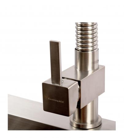 Baterie CookingAid Spring SQUARE cu furtun dus retractabil / extractibil si cap LED termostat4