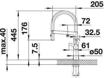 Baterie cu senzor pentru chiuveta BLANCO Solenta-s Senso [5]