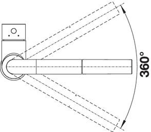 Baterie de bucatarie inox BLANCO Mila6