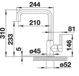 Baterie de bucatarie inox BLANCO Mili 519413 [5]