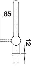 Baterie din inox pentru chiuveta bucatarie Blanco LINUS-F pentru montaj in fata ferestrei [4]