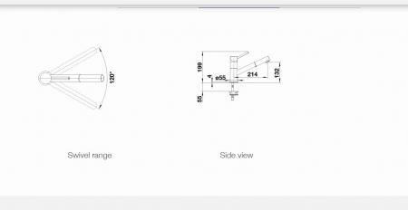 Baterie granit bucatarie Blanco KANO S Compact, dus estensibil, aspect bicolor [3]