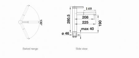 Baterie granit bucatarie Blanco LINEE-S aspect bicolor [1]