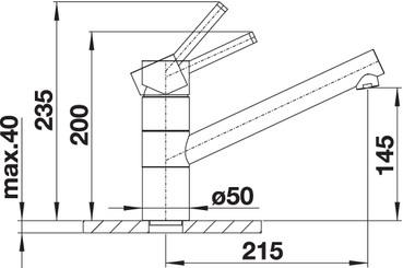 Baterie inox bucatarie Blanco TIVO crom [1]