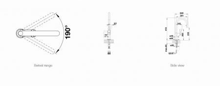 Baterie INOX bucatarie Blanco CARENA-S VARIO cu dus extensibil [6]