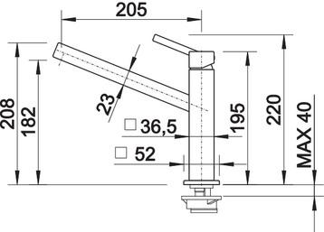 Baterie inox bucatarie Blanco QUATURA  crom1