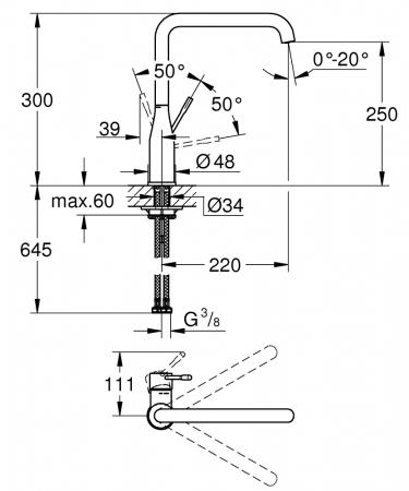 Baterie pentru bucatarie Grohe Essence [5]