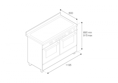 Bertazzoni Aragaz 120x60 cm cuptor electric dublu 6 arzatoare Inox design Professional [1]