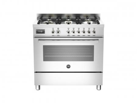 Bertazzoni Aragaz 90x60 cm,6 arzatoare, cuptor electric Inox, serie Professional [0]