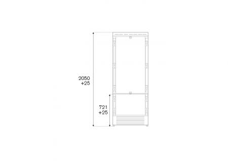 Bertazzoni Combina frigorifica incorporabila 75 cm  design Neutral, deschidere dreapta [1]