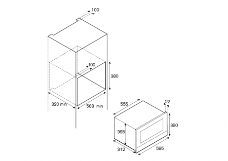 Bertazzoni Cuptor combinat microunde si gratar 60x38 cm Inox design Modern [1]