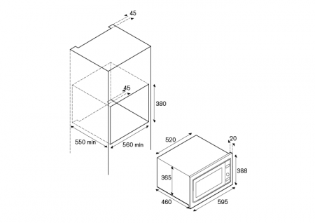 Bertazzoni Cuptor 60x38 cm Micro Inox design Professional [1]