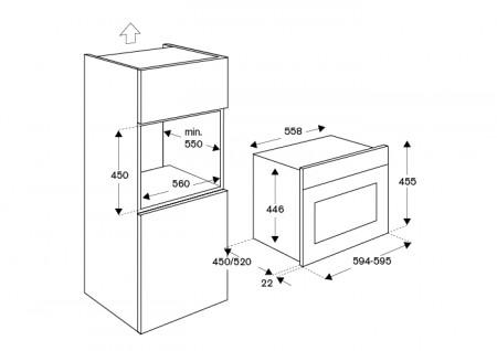 Bertazzoni Cuptor electric combinat 60x45 cm, inox design Modern [1]