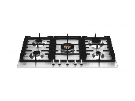 Bertazzoni Plita incorporabila cu 5 arzatoare gaz 90 cm Inox design Modern [0]
