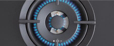 Bertazzoni Plita gaz 90 cm Sticla neagra design Modern [2]